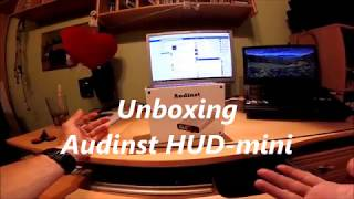 audinst HUD mini USB external DAC unboxing