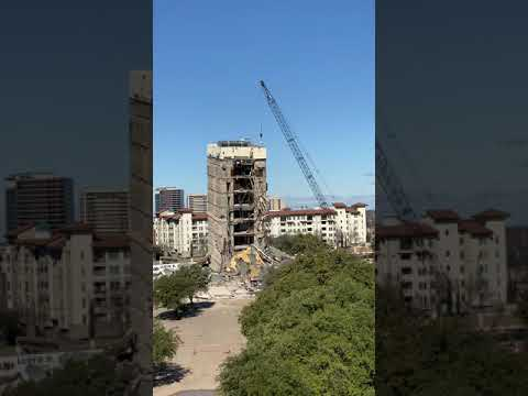 Leaning Tower of Dallas Demolition