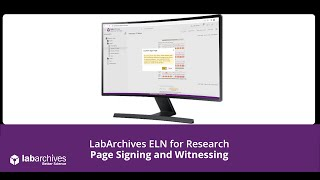 ELN for Research - Signing and Witnessing