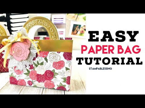 DIY Paper Bag Tutorial Christmas Time Stampin'Up!