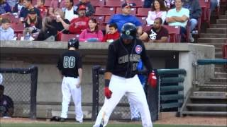 Jeimer Candelario, the Chicago Cubs Prospect, Shatters His Bat in Half