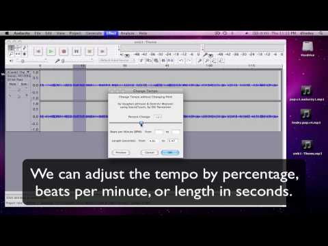 Audacity Tutorial - Changing Tempo Without Changing Pitch