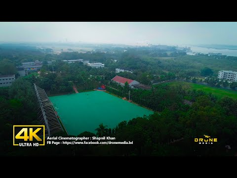 Bangladesh Marine Academy Chittagong IBird's Eye View  4K Drone Footage I Drone Media Bangladesh