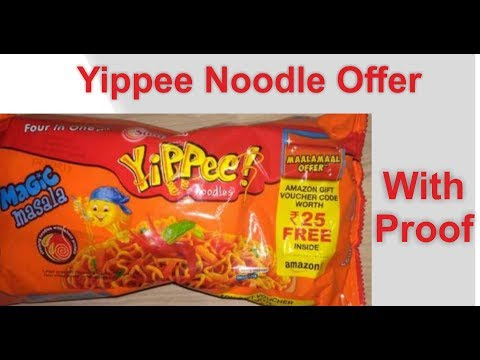 Yippee Noodles Maalamaal Offer Get Rs  25 Amazon Cash voucher gift