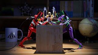 Evangelion-|Battle Between Eva Unit 1 and Unit 2 |Stop Motion