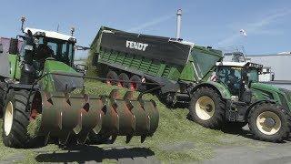 Lohnunternehmen Blunk beim Grashäckseln | New Fendt  Tigo XR 100 | Fendt Katana 65