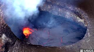 Hawaii Volcanoes National Park Kilauea Caldera pre eruption.   September 4, 2018