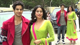 Sridevi's Daughter Jhanvi Kapoor Enters With Boyfriend Ishaan Khattar At Dhadak Trailer Launch