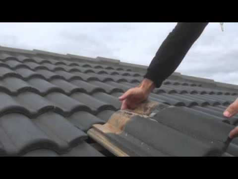 How to change a concrete roof tile