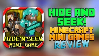 HIDE N SEEK! MC Mini Game App Review - Minecraft Clone