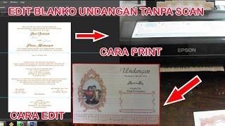 edit blanko undangan tanpa scan dengan photoshop