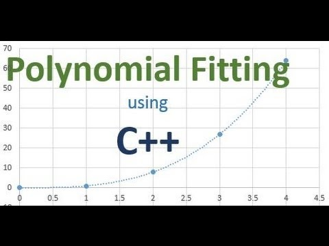 Polynomial Fitting using C++ Program (Tutorial)
