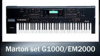 Ritmovi za Roland G 1000 i EM2000 - Marton set