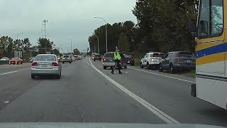 HOV/Bus Lane Traffic Cheater Instant Karma - Delta, BC