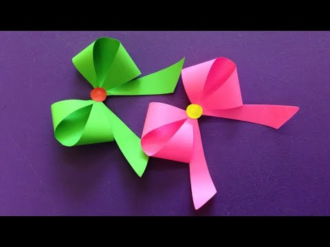 How to make a paper bow /ribbon / easy origami bow /ribbons for beginners making / Diy - paper craft