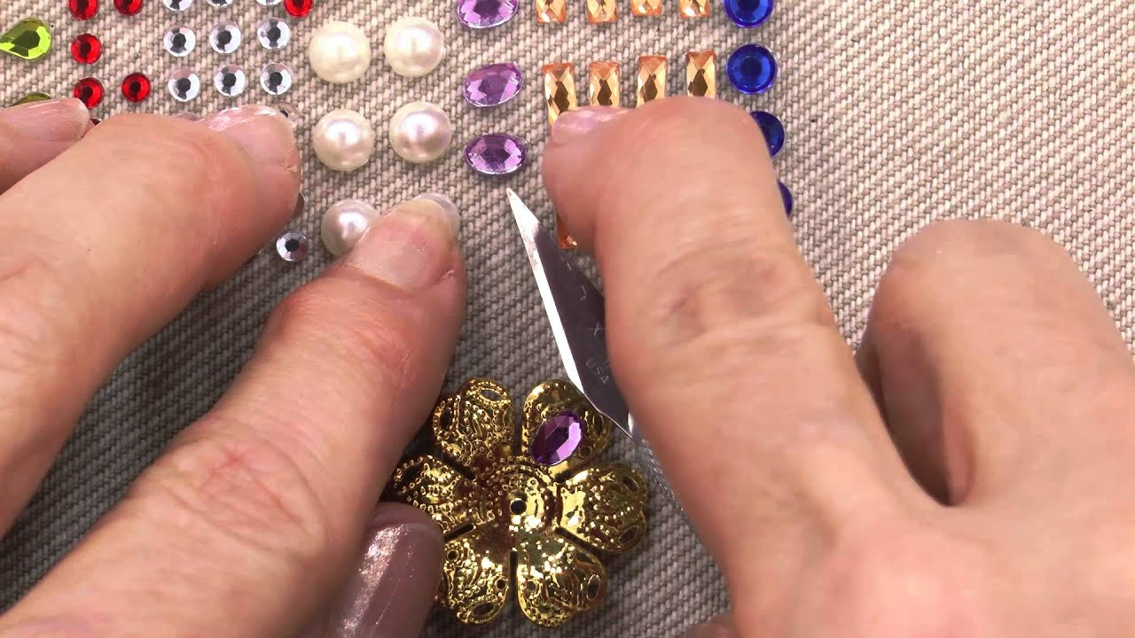 How To Use Adhesive Rhinestones An Annie S Tutorial Youtube