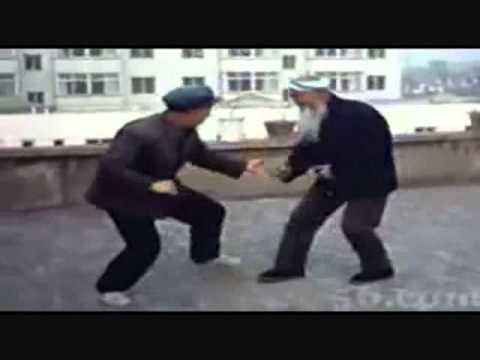 Chinese Muslim Kung Fu Shaykh Sparring