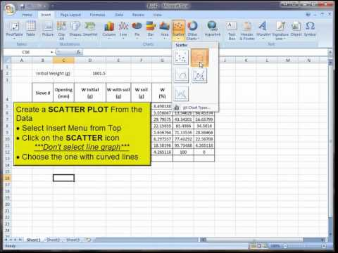 Creating A Logarithmic Sieve Graph Using Excel 2007 - Youtube