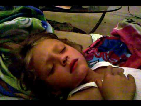 Scary sleeping sister