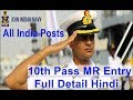 10th Pass Join Indian Navy MR entry 2019, Apply Online Navy recruitment  400 Posts Latest Govt Job