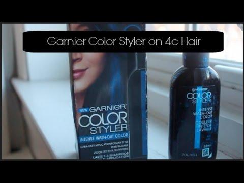 No Bleach Blue (Temporary) Dye on Dark, 4c Afro Hair