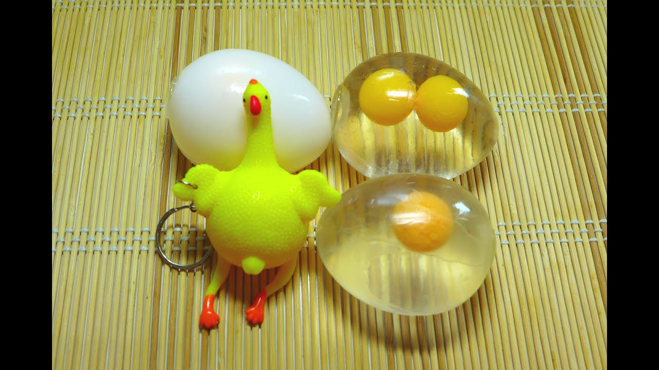 Water Egg Squeeze Squishy - YouTube