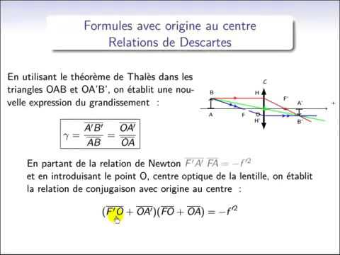 Td optique géométrique corrigé pdf