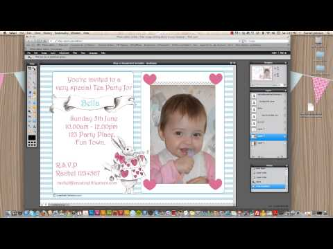 How to make your own photo invitations - YouTube - how to make a party invitation on microsoft word