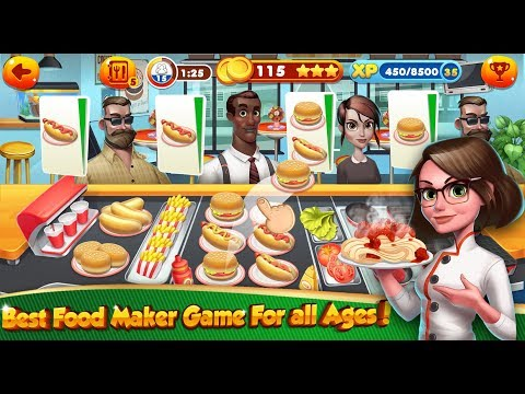 Cooking Games Chef Burger Food Kitchen Restaurant / Children / Baby / Android Gameplay Video