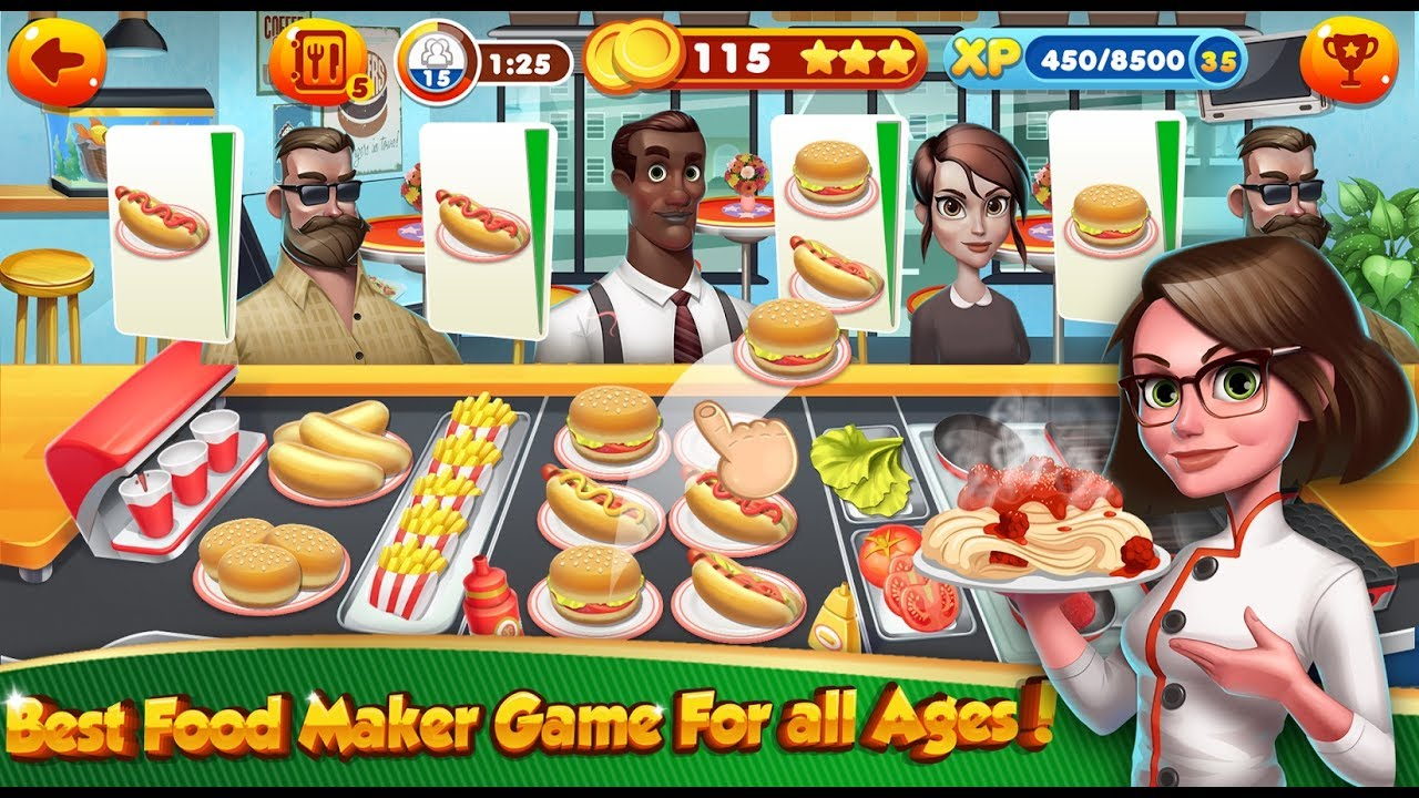 kitchen cooking games melissa and doug accessories chef burger food restaurant children baby android gameplay video