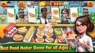 Cooking Games Chef Burger Food Kitchen Restaurant / Children / Baby / Android Gameplay Video
