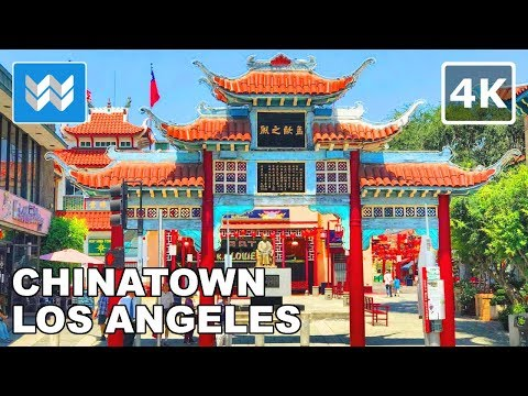Walking from Olvera Street to Chinatown in Downtown Los Angeles, California 【4K】