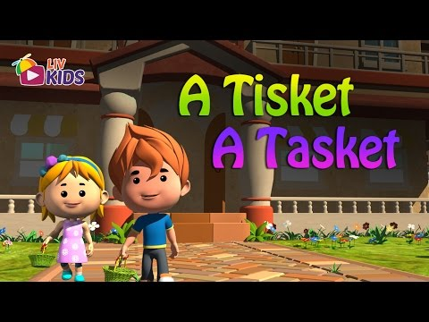 A Tisket A Tasket with Lyrics LIV Kids Nursery Rhymes and Songs  HD