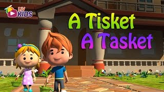 A Tisket A Tasket with Lyrics| LIV Kids Nursery Rhymes and Songs | HD