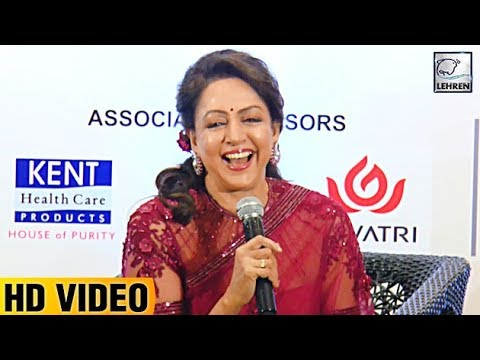 Hema Malini's Funny Conversation With Reporter | LehrenTV