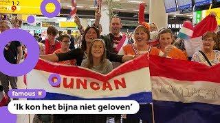 Duncan Laurence als held begroet op Schiphol na aankomst uit Tel Aviv