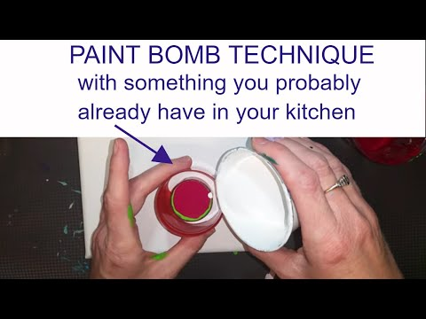 PAINT BOMB with something you probably have  in your kitchen.