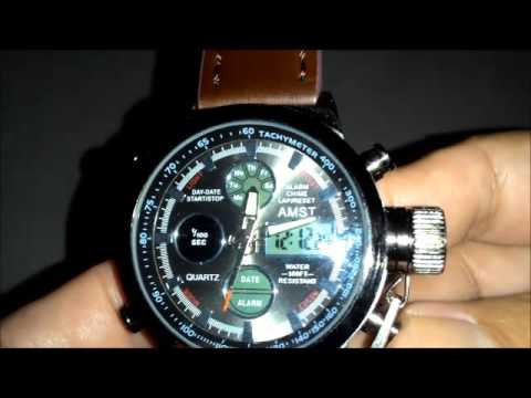 l'ultimo 9dc52 ae306 AMST 3003 Dual Display Military Quartz Digital Watch from Gearbest.com
