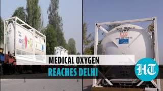 Watch: Oxygen Express with 120 MT liquid medical oxygen arrives in Delhi
