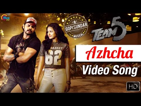 Team 5 Malayalam Movie | Azhcha Song Video | Sreesanth | Gopi Sunder | Official