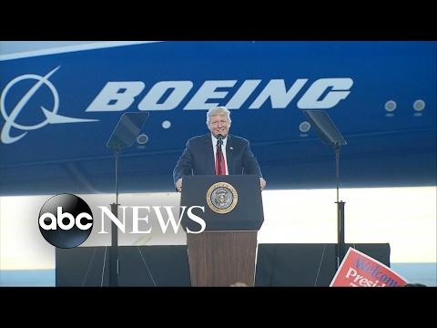 President Trump addresses crowds, bashes media