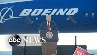 President Trump addresses crowds, bashes media