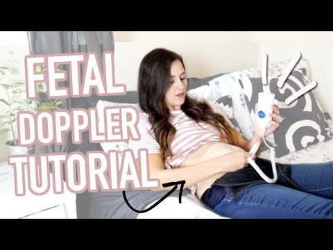 HOW TO USE AN AT HOME FETAL DOPPLER || FINDING BABY'S HEART BEAT || TRYING BABY DOPPLER SONOLINE B
