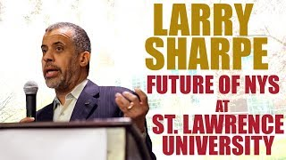 Speaking at St. Lawrence University about the Future of NYS