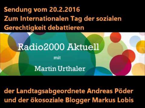 Radio 2000 aktuell - Welttag der sozialen Gerechtigkeit
