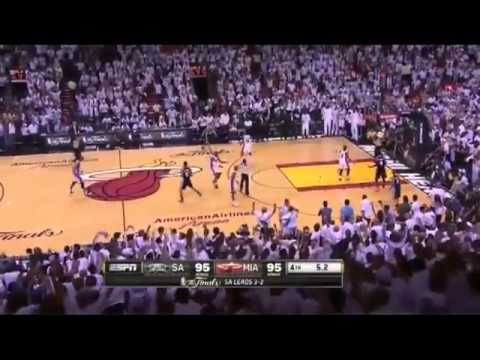 MIAMI HEAT VS SPURS : RAY ALLEN & LEBRON JAMES WINNING SHOT GAME 6 - HIGH QUALITY
