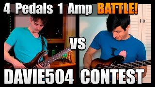 Davie504 Bass Battle using Royal Blood style Effects - 4 Pedals 1 Amp (Sire Contest)