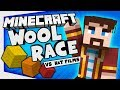 YOGSCAST vs HAT FILMS | Minecraft Race for the Wool #1