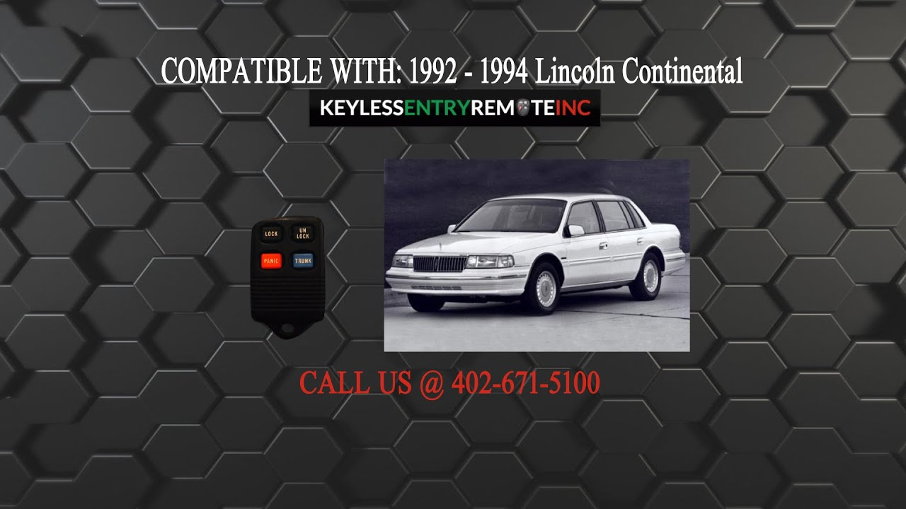 How To Replace Lincoln Continental Key Fob Battery 1992 1993 1994