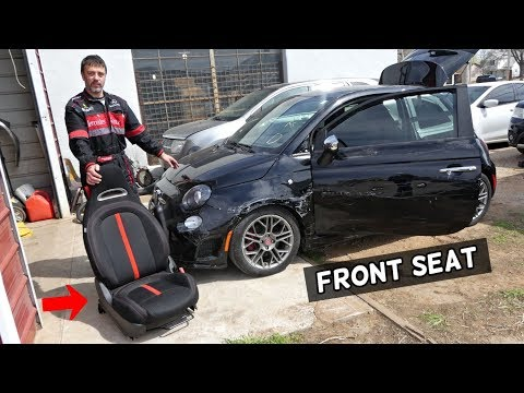 FIAT 500 FRONT SEAT REMOVAL REPLACEMENT  FIAT 500 ABARTH
